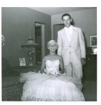 Sue Johnson and Jim Cadd ready for Jr. Prom