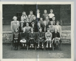 3rd Grade, Barstow 1950    l/r Front Row: Diane Myszka, Sharon Gendrich, Diane Soder, Kathy Kays, Sally Welch, Helen Lyn