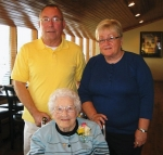 Jeri Stiles and her husband Larry -  at her mom, Christine's, 101st birthday - September 20,2009
