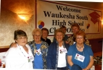 Front: Karen Staffeldt, Donna Koeppen, Marie Almekinder and Karen Adams.  Back: Gerry Bauer, Mary Jean Kuhtz and Judy Ha