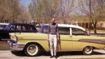 Bill Winkler in front of a '57 Chevy