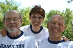 Dave Hamilton(class of '56), Ann Hamilton(class of '62) and Bill