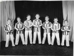 The Menzel Archives yielded the attached image of a featured troupe in the 1949 Spring Varieties of the Magers' Sch